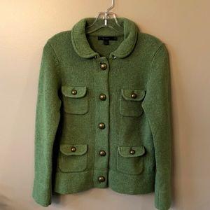 Sweaters - Boden Green Wool Jacket style Cardigan UK10